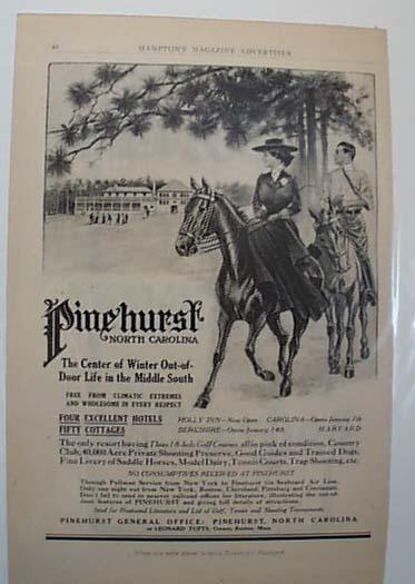 Pinehurst North Carolina  Resort Ad 1911