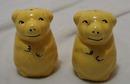 Yellow Ceramic Bears Salt & Pepper Shakers
