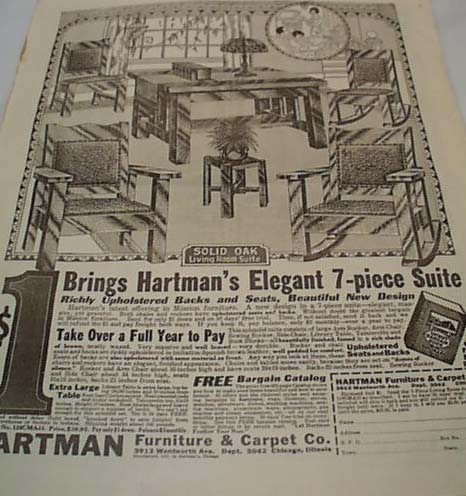 Hartman Mission Furniture Ad 1917