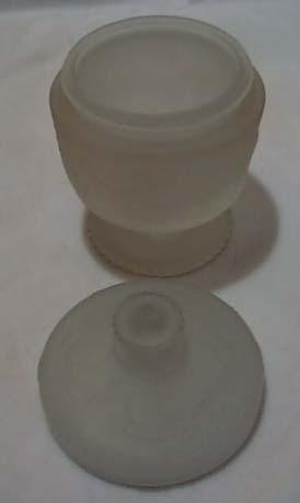 Indiana Glass Satin Grape Trail Lidded Jar
