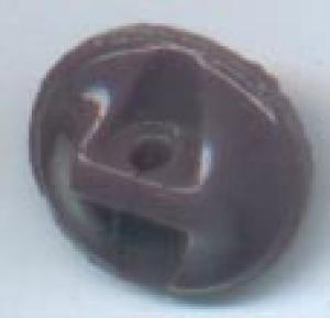 Carved Glass Button in purple