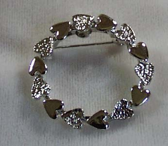 Gerry's Heart Silver Tone Pin