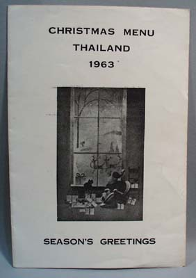 1963 Menu US Forces in Thailand Christmas