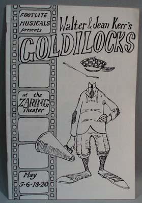 1960's Playbill Footlite Musicals Goldilocks