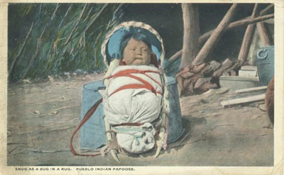 Pueblo Indian Papoose, Postcard
