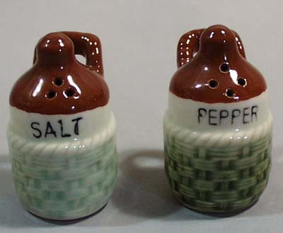 Japan Basket Weave Salt & Pepper Shakers