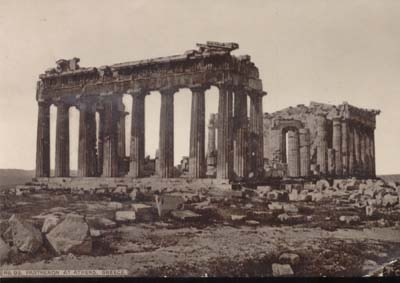 Hoods Pill Trading Card The Parthenon