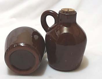 Little Brown Jug Salt & Pepper Shakers