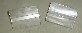NEAT shoe buckles, plastic ,look like shell