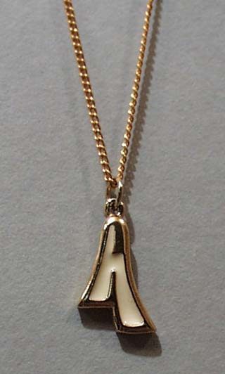 Letter A Pendant With Chain