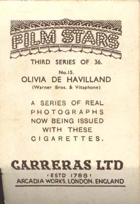 Film Star Photo Olivia de Havilland