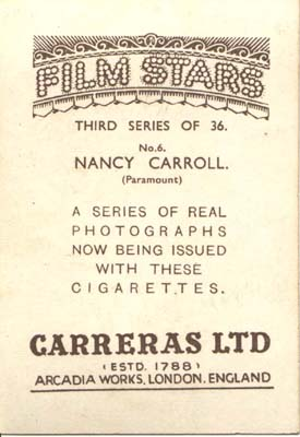 Film Star Photo Nancy Carroll