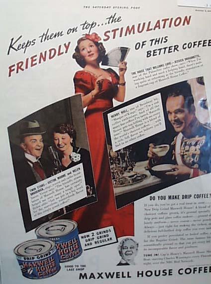Maxwell House Coffee Ad 1937