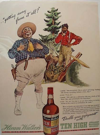 Hiram Walker Comical 1938 Ad