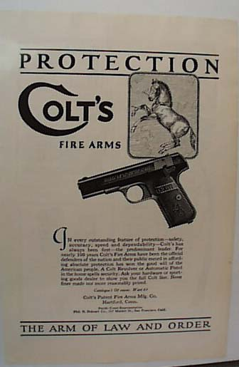 Colts 1924 Fire Arms Ad