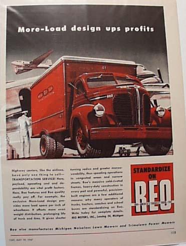 REO  1947 Truck Ad