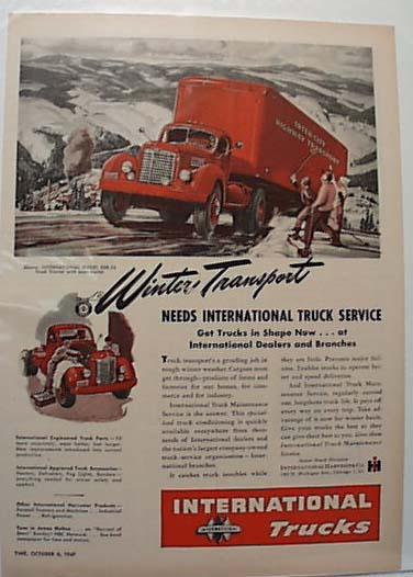 International Truck Ad 1947