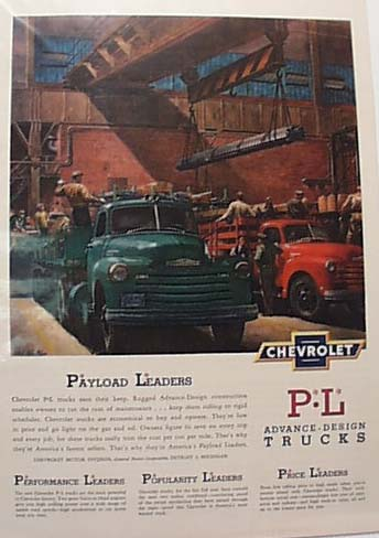 Chevrolet 1950 Heavy Truck Ad
