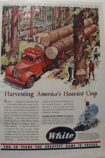 White Motor Logging Truck 5 -4-1942 Ad