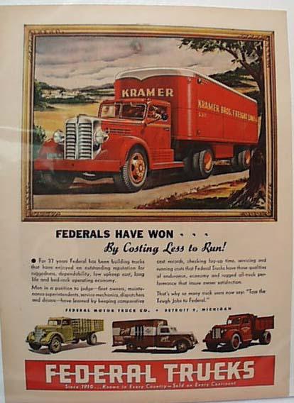 Federal Trucks 1947 Ad