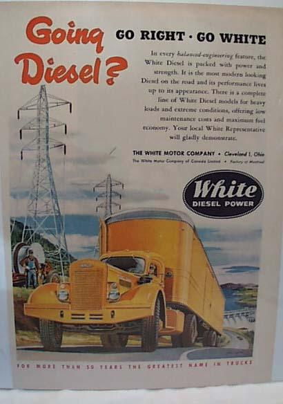 White Diesel Power 1951 Truck Ad