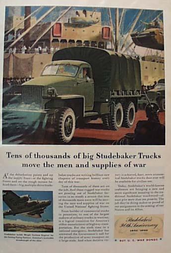 Studebaker Big Truck For War 1942 Ad