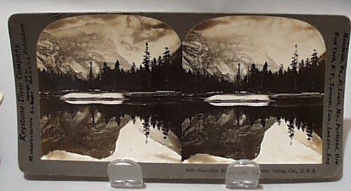 Keystone Stereoview Card #9466 Mirror Lake