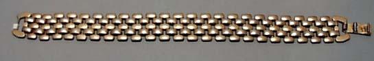 Open Link Gold Tone Bracelet