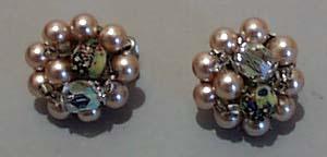 Japan Faux Pearl & Crystal Earrings