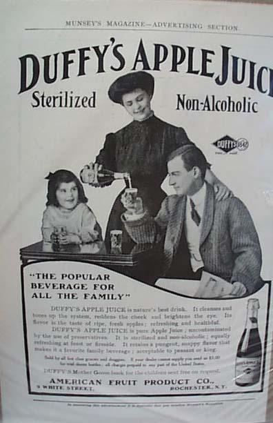 Duffy's Apple Juice Late 1800's Ad