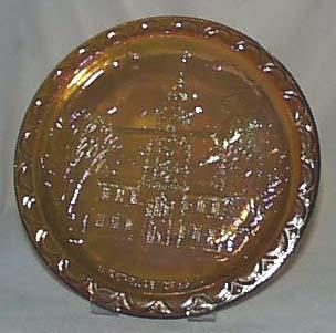 Indiana glass bicentennial series plate
