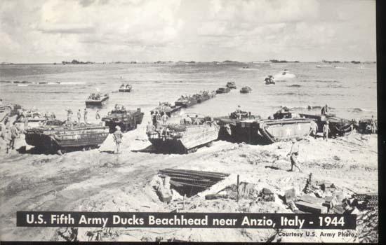 US 5th Army Ducks Beachhead Anzio Italy 1944