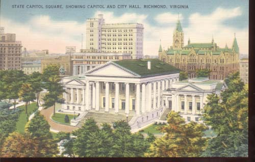State Capitol Square Shows City Hall Postcard