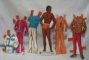 Mattel 1975 Cara & Curtis Paper Dolls