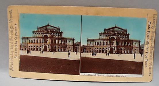Stereo Card #6, Royal Opera House in Dresden