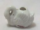 Mini White Ceramic Swan