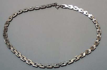 Silver tone Link Necklace