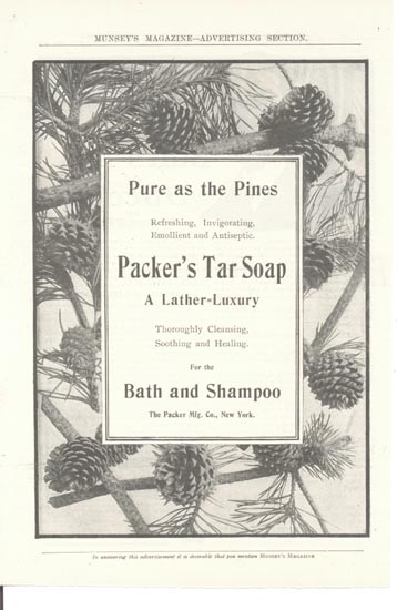 Packer Mfg. Tar Soap Ad  This is an ad for Th