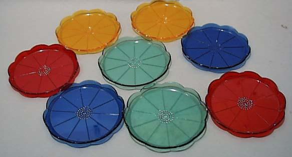 Plastic Flower Coasters 1960 Era