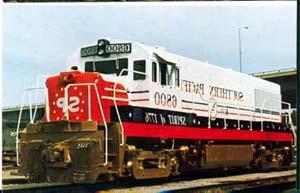 Southern Pacific #6800 RR Train postcard