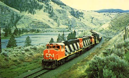 Train PC Canadian National Ballast Train