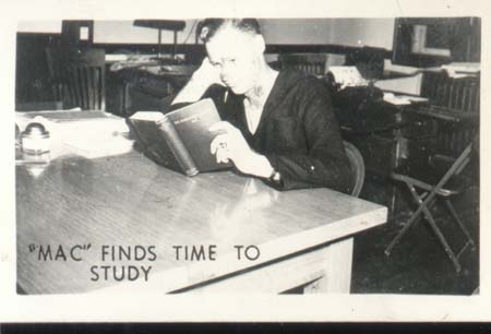 WWII Navy Mini Photo Mac Finds Time To Study