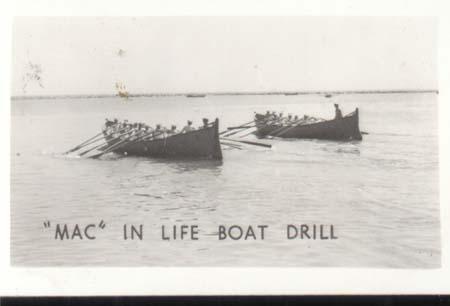 WWII Navy Mini Photo Mac Life Boat Drill 1943