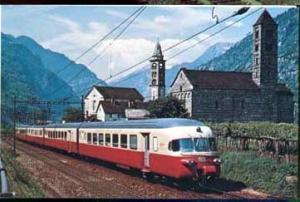 RR Train Trans European Express in Switzerland Postcard