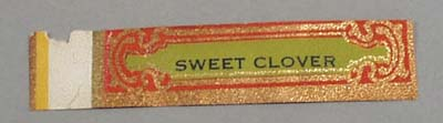 Victorian Label Reads Sweet Clover