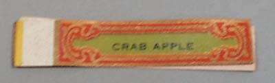 Victorian Label Reads Crab Apple