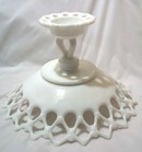 LARGE open lace compote with doric