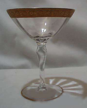 Fry Glass Minton tall sherbet .