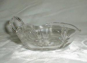 Fostoria Baroque Nappy or Gravy Bowl, Crystal