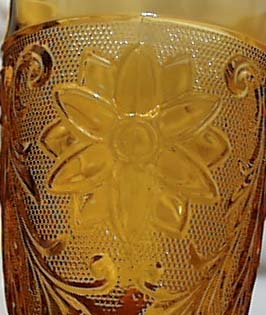 Indiana Glass Tiara Tumbler in Amber.